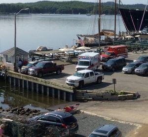 911 call at Castine Town Dock